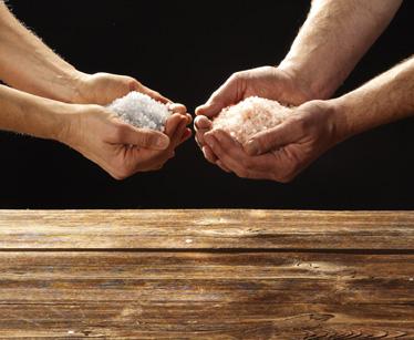 Hier werden Salze Präsentiert